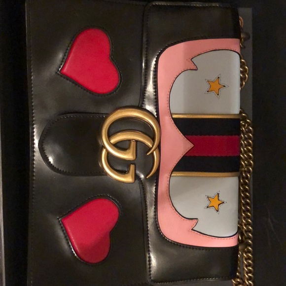 c68efa8ae4db Gucci Bags | Marmont Gg Medium Web Heart Cross Body Bag | Poshmark